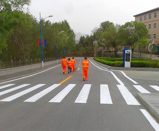 天津人行道划线